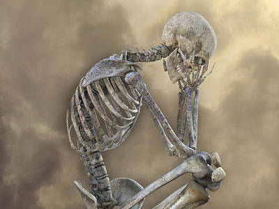 Human Skeleton Digital Art - Decisions by Betsy Knapp