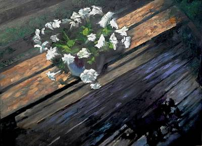 Painting - Deck Flowers #1 by Brian Kardell