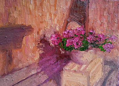 Painting - Deck Flowers #2 by Brian Kardell