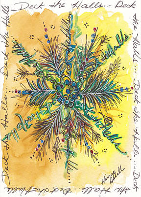 Deck The Halls Snowflake Original by Michele Hollister - for Nancy Asbell