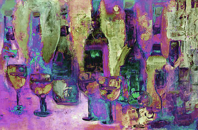 Digital Art - Deck The Halls With Walls Of Wine Art  by Lisa Kaiser