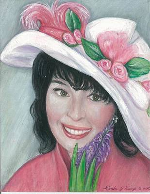 Drawing - Decked For Spring by Linda Nielsen