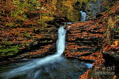 Photograph - Deckertown Falls by Matthew Winn