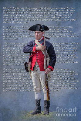 Digital Art - Declaration Of Independence Continental Soldier by Randy Steele