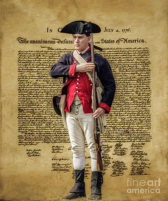 Digital Art - Declaration Of Independence Continental Soldier Ver Two by Randy Steele
