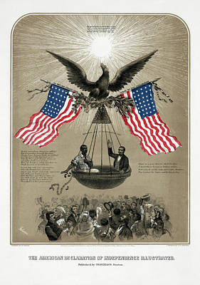 Declaration Of Independence From Slavery  1861 Art Print by Daniel Hagerman