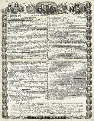 Drawing - Declaration Of Independence by Granger