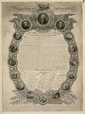 Declaration Of Independence Art Print by John Binns