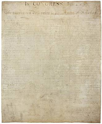 Photograph - Declaration Of Independence - Original by Pablo Lopez
