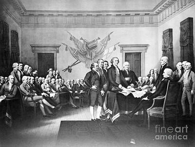 Declaration Of Independence Art Print by Photo Researchers, Inc.