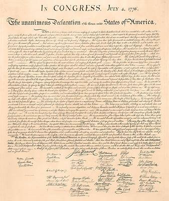 4th Of July Painting - Declarations Of Independence by Declarations of Independence