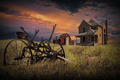 Decline Of The Small Farm No.10 Art Print by Randall Nyhof