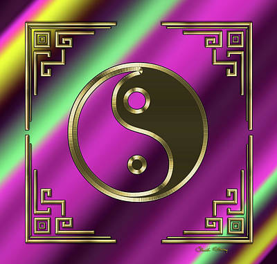 Digital Art - Deco 32 - Yin Yang by Chuck Staley