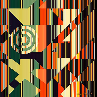 Digital Art - Deco Abstract 1  by Chuck Staley