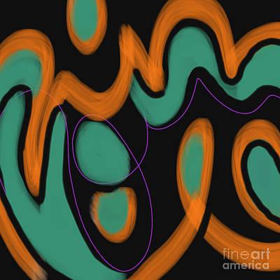 Digital Art - Deco Dancing Line by Carol Jacobs