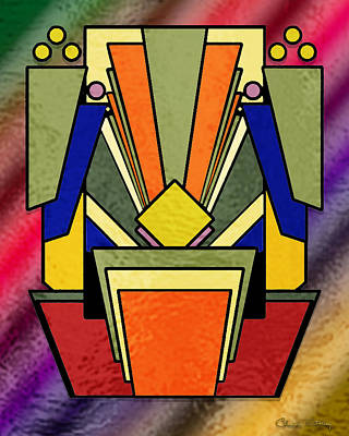 Digital Art - Deco Design 20 by Chuck Staley