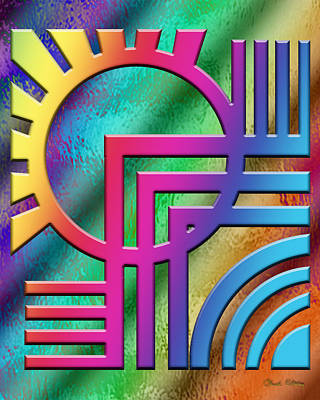 Digital Art - Deco Design 21 by Chuck Staley
