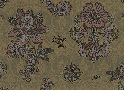 Deco Flower Brown Print by JQ Licensing