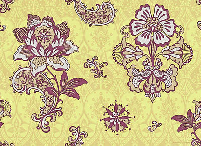 Quilted Tapestries Painting - Deco Flower Yellow by JQ Licensing
