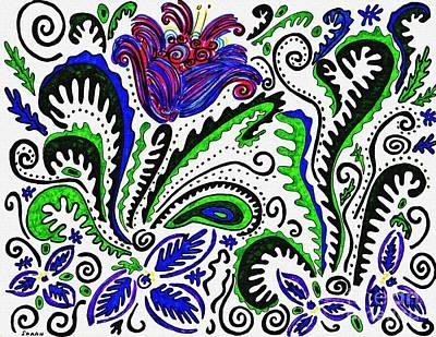 Drawing - Deco Garden by Sarah Loft