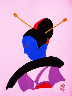 Painting - Deco Geisha by Roberto Prusso