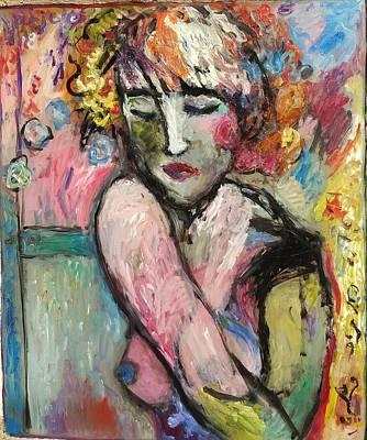 Painting - Deco Girl by Mykul Anjelo