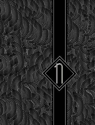 20th Digital Art - Deco Jazz Swing Monogram ...letter N by Cecely Bloom
