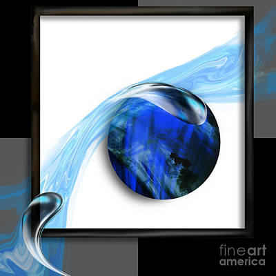 Labradorite Painting - Deconstructed Abstract Labradorite by Kathryn L Novak