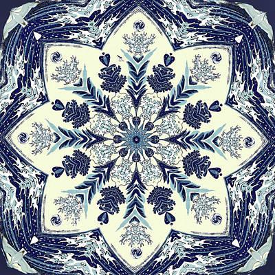 Digital Art - Deconstructed Sea Mandala by Deborah Smith