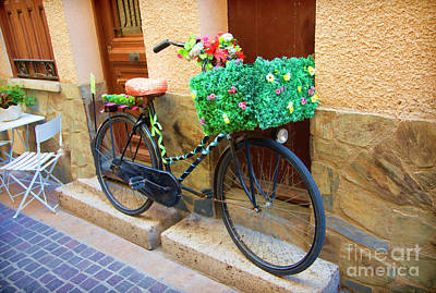 Photograph - Decor Bicycles France Collioure Village  by Chuck Kuhn