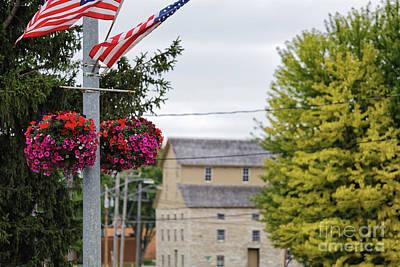 Photograph - Decorah Iowa Mill View From Bridge by Kari Yearous