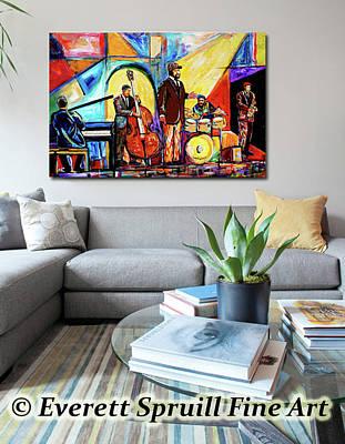 Jacob Lawrence Mixed Media - The Art Of Jazz by Everett Spruill
