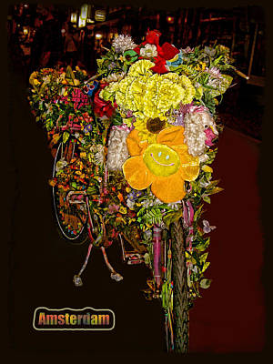 Winter Animals Rights Managed Images - Decorated Amsterdam Bike Royalty-Free Image by Joan  Minchak