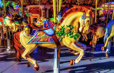 Decorated Carrasoul Horse Art Print