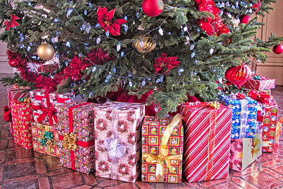 Photograph - Decorated Christmas Tree And Gifts by Ram Vasudev
