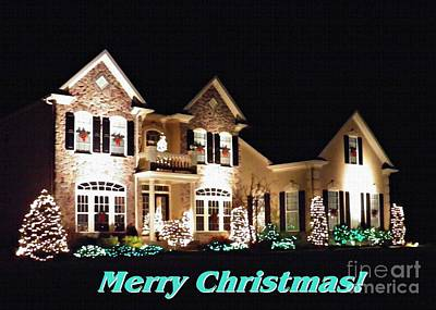 Decorated For Christmas Photograph - Decorated For Christmas Card 1 by Sarah Loft