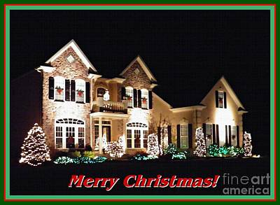 Decorated For Christmas Photograph - Decorated For Christmas Card 2 by Sarah Loft