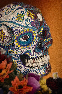 Papier Mache Digital Art - Decorated Skull - Beauty In The Macabre by Mitch Spence