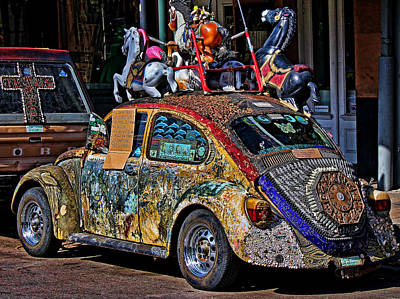 Photograph - Decorated Volkswagen  by Judy Vincent