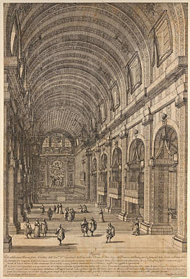 Drawing - Decoration Ordered By Cardinal De Retz In The Church Of San Luigie Rome For The Saint's Feast Day by Dominique Barriere
