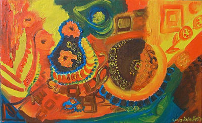 Painting - Decorative Abstraction by Rita Fetisov