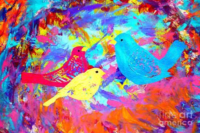 Painting - Decorative Birds D132016 by Mas Art Studio