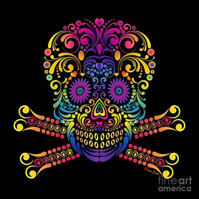 Digital Art - Decorative Candy Skull by Heather Schaefer