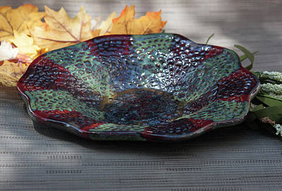 Ceramic Art - Decorative Carnival Bowl by Suzanne Gaff
