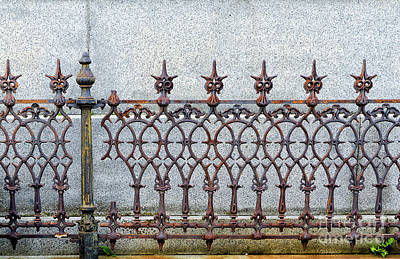Photograph - Decorative Cast And Wrought Iron Fence_ Nola by Kathleen K Parker