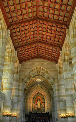 Photograph - Decorative Ceiling At Yale University by Dave Mills