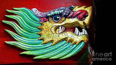 Digital Art - Decorative Chinese Dragon by Ian Gledhill
