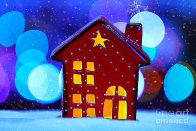 Photograph - Decorative Christmas House by Anna Om