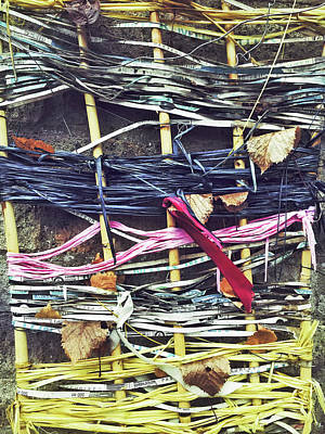 Bamboo Photograph - Decorative Colorful Ribbons by Tom Gowanlock