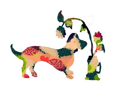 Dachshunds Doxie Digital Art - Decorative Dachshund 3 by Holly McGee